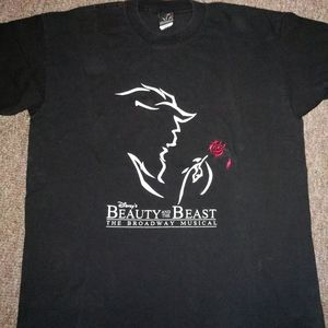 Disney beauty and the beast musical shirt